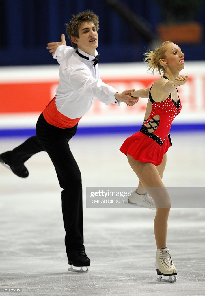 Britain's Stacey Kemp and David King perform their free skating program at the Dom Sportova Arena in Zagreb, 23 January 2008, during the European Figure Skating Championships 2008.