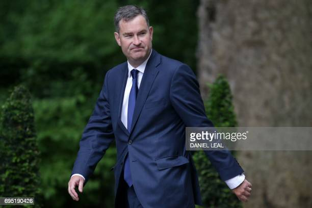 Britain's Work and Pensions Secretary David Gauke arrives to attend a Cabinet meeting at 10 Downing Street in central London on June 12 following the...