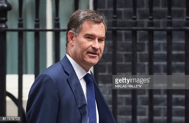 Britain's Work and Pensions Secretary David Gauke arrives to attend a weekly Cabinet Meeting at 10 Downing Street in central London on July 18 2017 /...