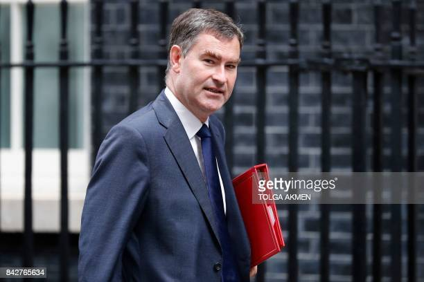 Britain's Work and Pensions Secretary David Gauke arrives to attend a weekly Cabinet Meeting at 10 Downing Street in central London on September 5...