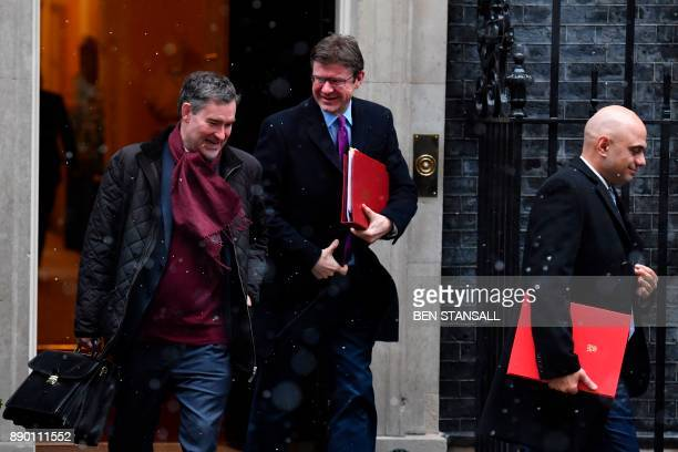 Britain's Work and Pensions Secretary David Gauke Britain's Business Energy and Industrial Strategy Secretary Greg Clark and Britain's Communities...