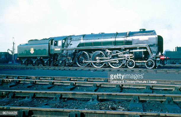 Britannia' 7P6F class 462 steam locomotive No 70000 at Neasden January 1951 The Britannia built at Crewe Works in 1950 is shown here shortly after...