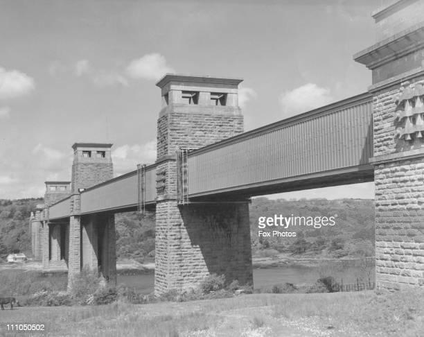 Britannia Bridge Wales 1936
