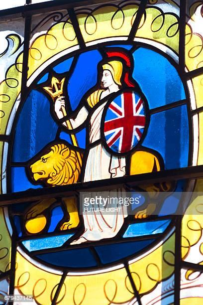 Britannia window, All Hallows by the Tower Church