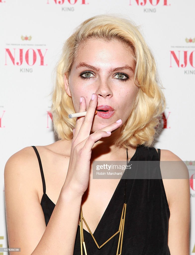 Britany Nola attends the NJOY King Electric Cigarette launch event at The Jane Hotel on December 6, 2012 in New York City.