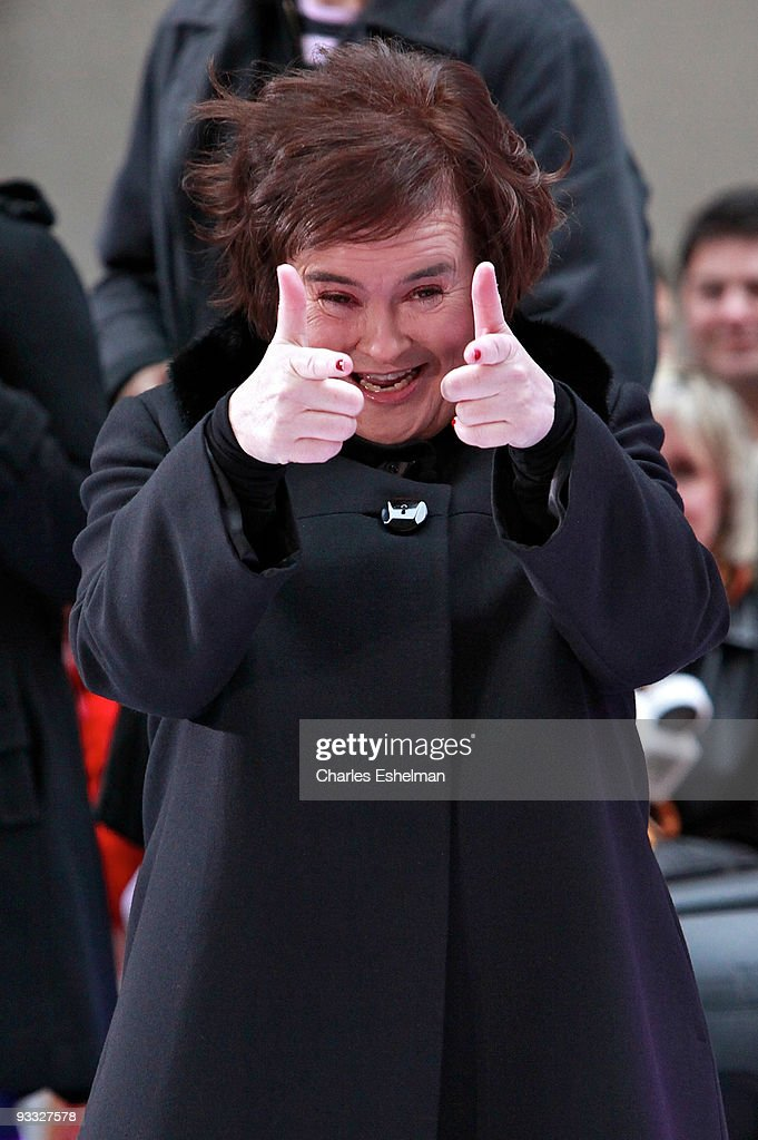 'Britian's Got Talent' contestant singer Susan Boyle performs on NBC's 'Today' at NBC Studios on November 23 2009 in New York City