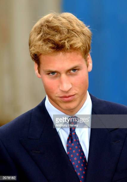 Britian's Prince William stands September 21 2001 in Glasgow Scotland Prince William will celebrate his 21st birthday on June 21 2003