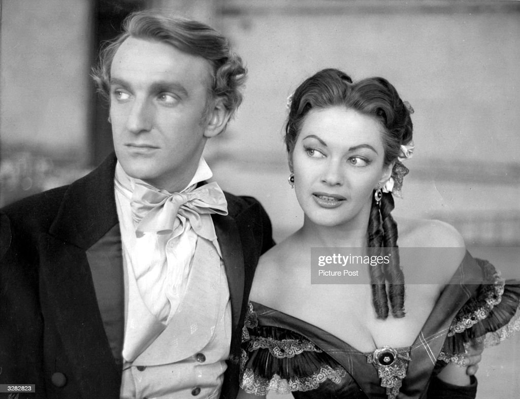 British actor Alan Badel (1923 - 1982) stars with Canadian actress Yvonne De Carlo in 'Magic Fire' (aka 'Frauen um Richard Wagner'), directed by William Dieterle for Republic. Original Publication: Picture Post - 7706 - The Loves Of Richard Wagner - pub. 1955