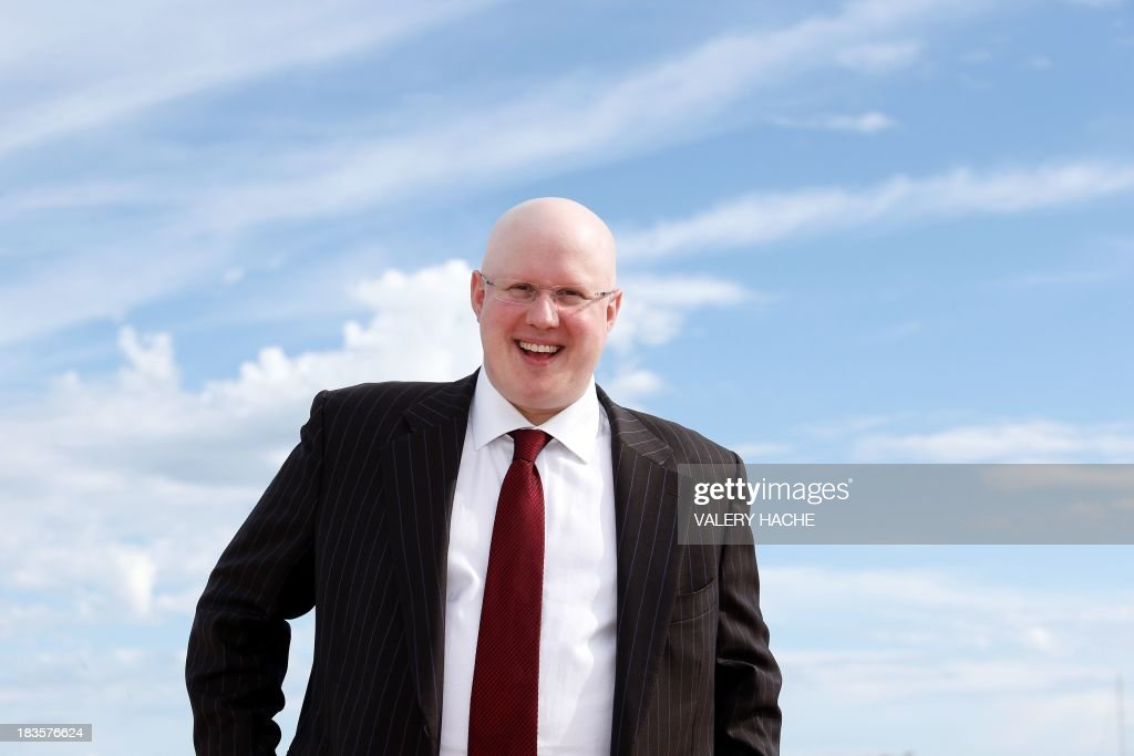 British actor and director Matt Lucas poses during a photocall as part of the Mipcom international audiovisual trade show at the Palais des Festivals, in Cannes, southeastern France, on October 7, 2013. AFP PHOTO / VALERY HACHE