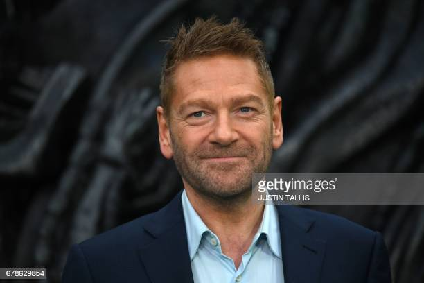 British actor and producer Kenneth Branagh poses for a photograph upon arrival at the world premiere of 'Alien Covenant' in London on May 4 2017 /...