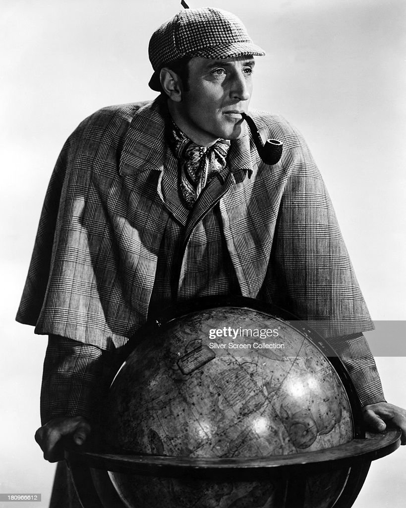 British actor <a gi-track='captionPersonalityLinkClicked' href=/galleries/search?phrase=Basil+Rathbone&family=editorial&specificpeople=93122 ng-click='$event.stopPropagation()'>Basil Rathbone</a> (1892 - 1967) as Sherlock Holmes in a promotional portrait for 'The Adventures of Sherlock Holmes', directed by Alfred L. Werker, 1939.