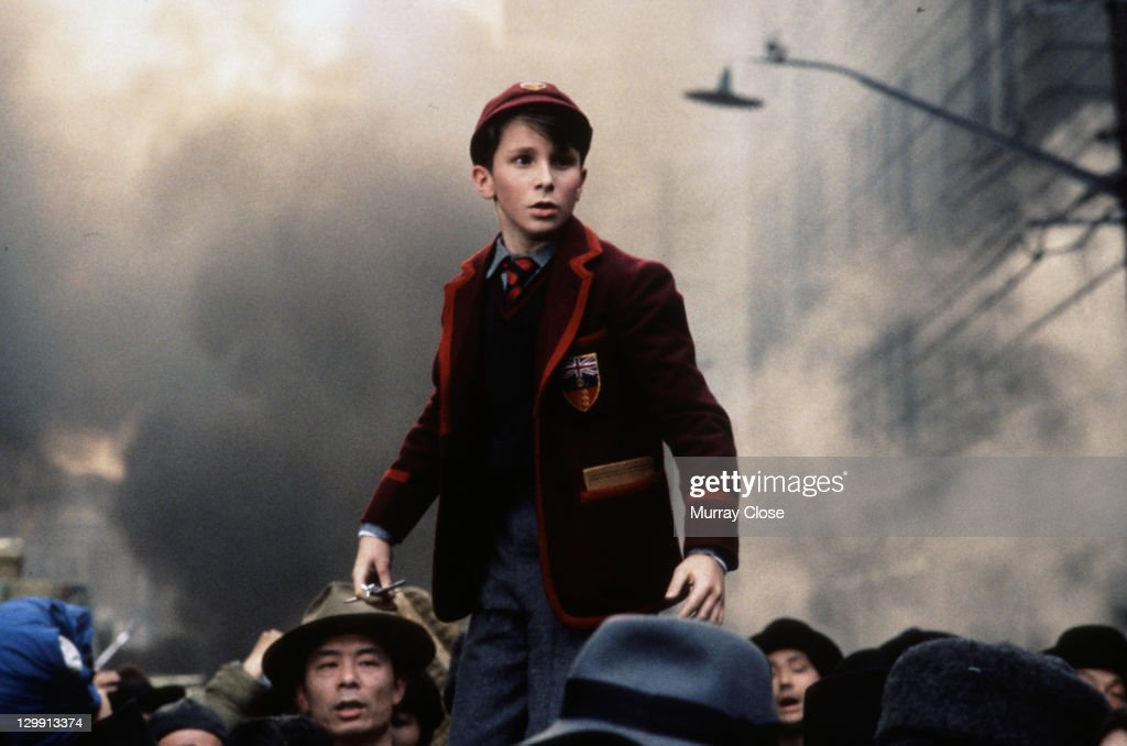 British actor Christian Bale as lost schoolboy Jim Graham in a scene from the film 'Empire of the Sun' 1987