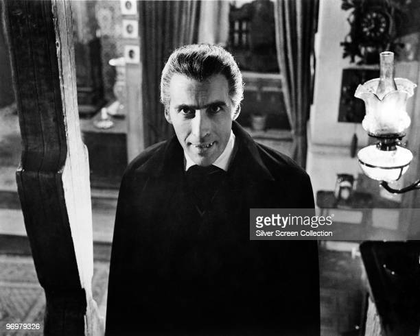 British actor Christopher Lee plays the vampiric Count in 'Dracula' 1958
