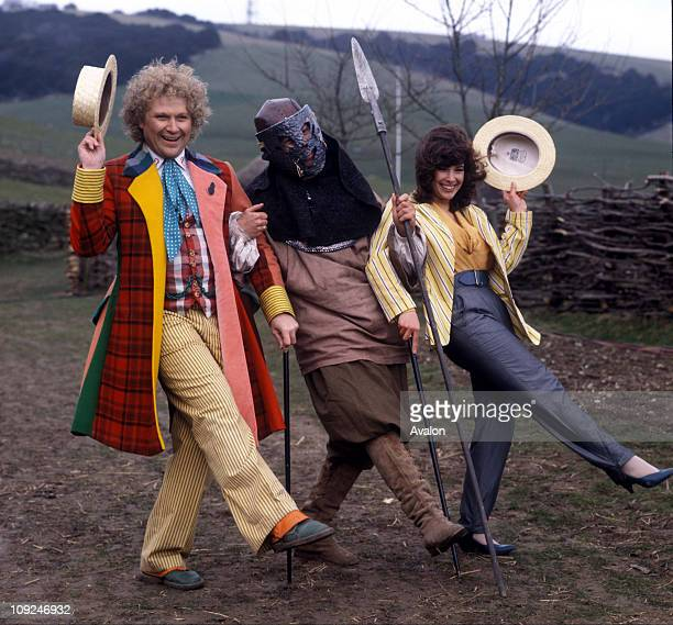 British Actor Colin Baker Who Plays The Doctor In The Bbc Television Series Dr Who Pictured Here With His Assistant Peri Played By Nicola Bryant And...
