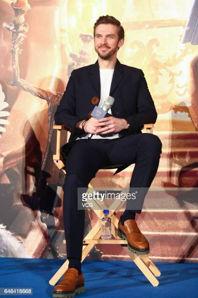 British actor Dan Stevens attends the press conference of American director Bill Condon's film 'Beauty and the Beast' on February 28 2017 in Shanghai...