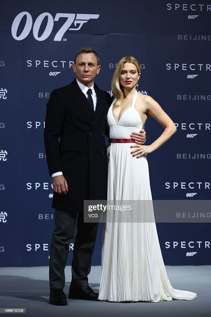 British actor Daniel Craig and French model and actress Lea Seydoux attend premiere of new film 'Spectre' directed by British actor and director Sam...