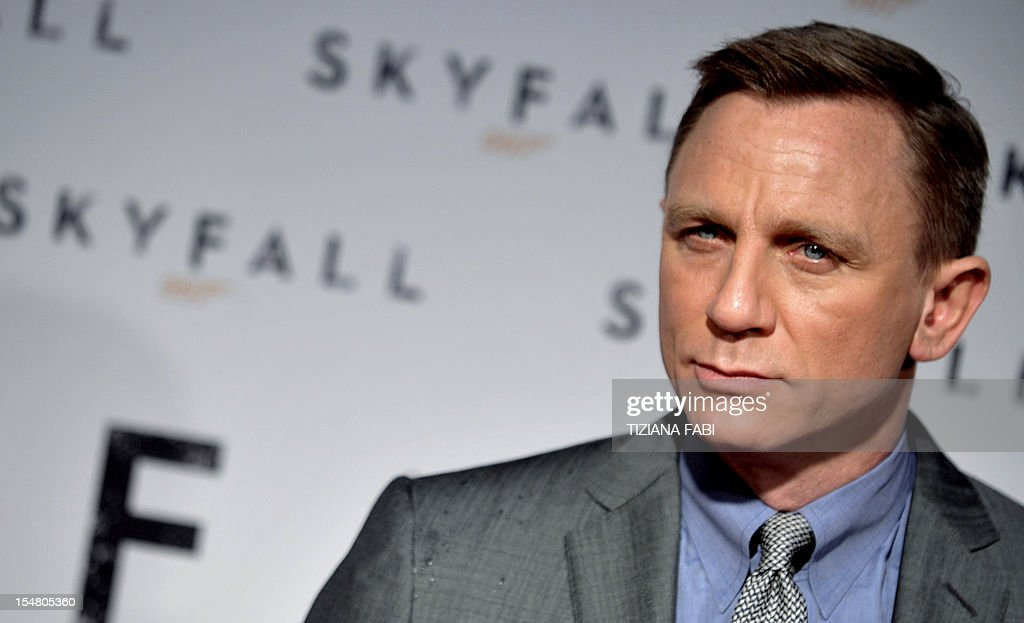 British actor Daniel Craig poses during the photocall for the new James Bond film 'Skyfall' on October 26, 2012 in Rome. Critics in Britain have declared the 23rd Bond film one of the finest in the British secret agent's half century on the silver screen.