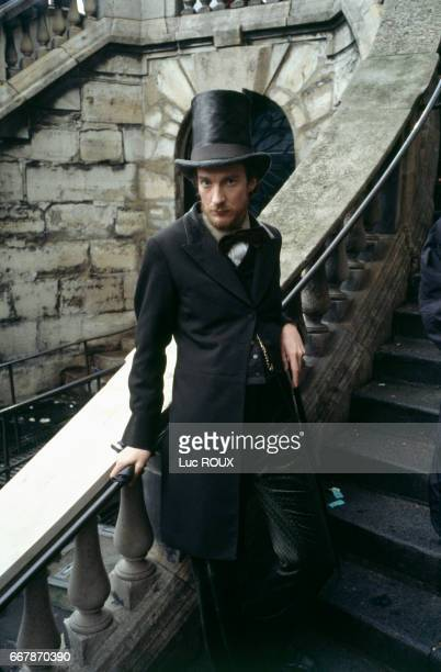 British actor David Thewlis on the set of the Belgian British and French film Total Eclipse directed by Polish director Agnieszka Holland