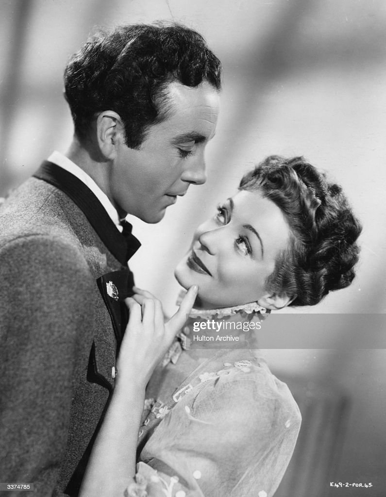 British actor Dennis Price born Dennistoun Franklyn John RosePrice stars with actress Giselle Preville in the film 'The Dancing Years' an Associated...