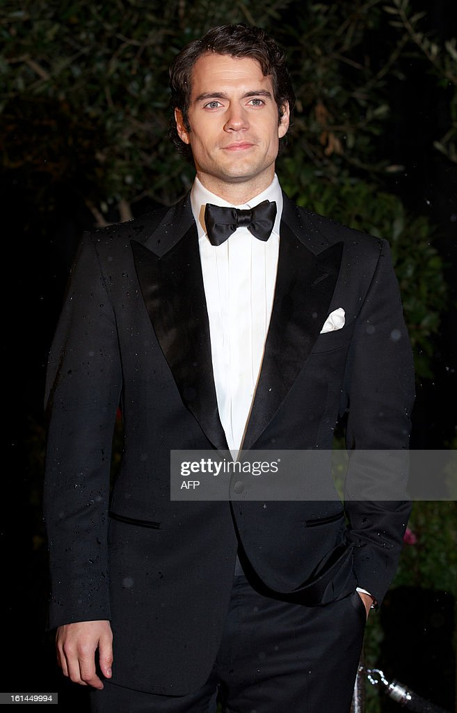 British actor Henry Cavill arrives for the BAFTA British Academy Film Awards after party in London on February 10, 2013.