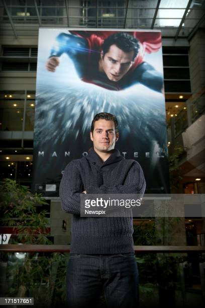 British actor Henry Cavill poses during a photo shoot on June 25 2013 in Sydney Australia Cavill is in Australia to promote his new superman film...