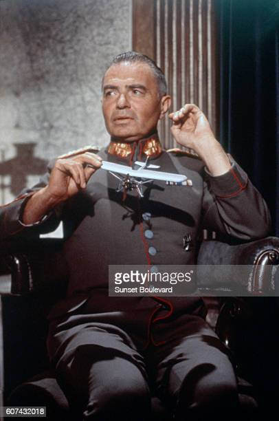 British actor James Mason on the set of The Blue Max based on the novel by Jack Hunter and directed by John Guillermin