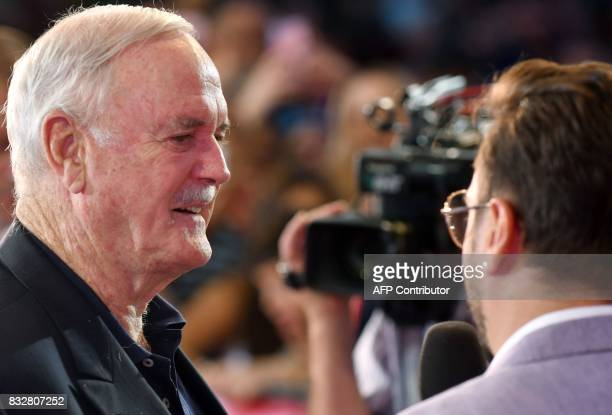 British actor John Cleese arrives for the 23rd Sarajevo Film Festival late on August 16 where he is to receive the 'Honorary Heart Of Sarajevo' award...