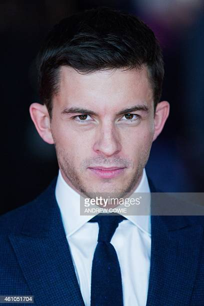 British actor Jonathan Bailey poses for photographers on the red carpet as he arrives for the Premiere of 'Testament of Youth' in central London on...