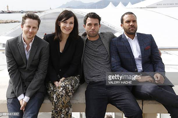 British actor Lee Ingleby British actress Sarah Solemani Welsh actor Tom Cullen and British actor O T Fagbenle pose for the photocall of the TV...
