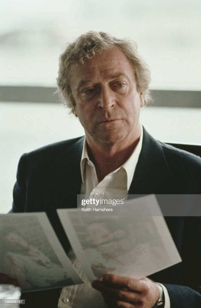 British actor <a gi-track='captionPersonalityLinkClicked' href=/galleries/search?phrase=Michael+Caine+-+Actor&family=editorial&specificpeople=159746 ng-click='$event.stopPropagation()'>Michael Caine</a> as former secret agent Harry Anders in the film 'Blue Ice', 1992.