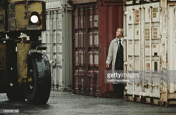 British actor Michael Caine as former secret agent Harry Anders in the film 'Blue Ice' 1992