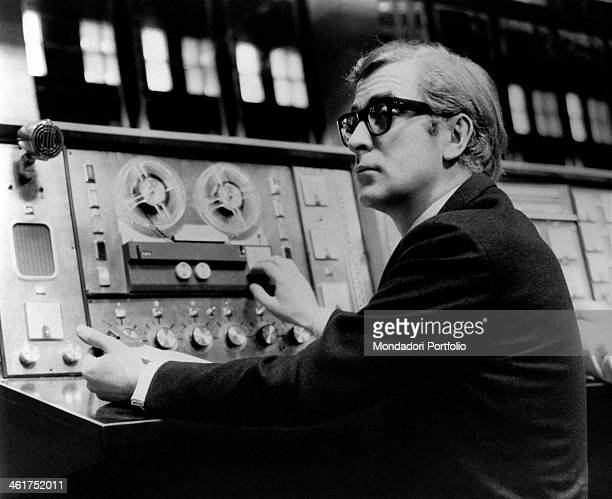British actor Michael Caine sitting in front of a dashboard in the film Billion Dollar Brain Finland 1967