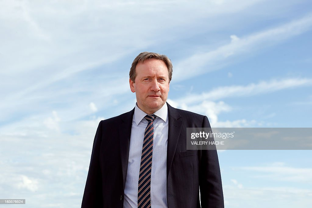 British actor Neil Dudgeon poses during a photocall for the TV series 'Midsomer murders' as part of the Mipcom international audiovisual trade show at the Palais des Festivals, in Cannes, southeastern France, on October 7, 2013.