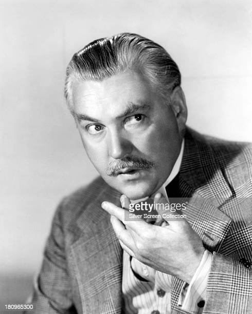 British actor Nigel Bruce as Doctor Watson in a promotional portrait for one of the fourteen films in which he played the role circa 1942