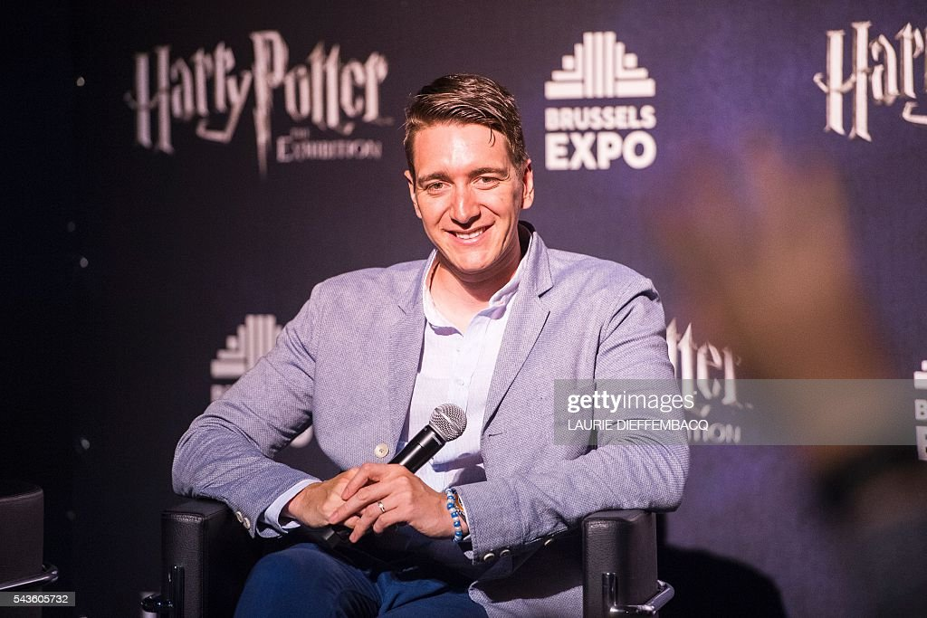 British Actor Oliver Phelps gives a press conference at Harry Potter - The Exhibition in Brussels on June 29, 2016 / AFP / BELGA / LAURIE DIEFFEMBACQ / Belgium OUT