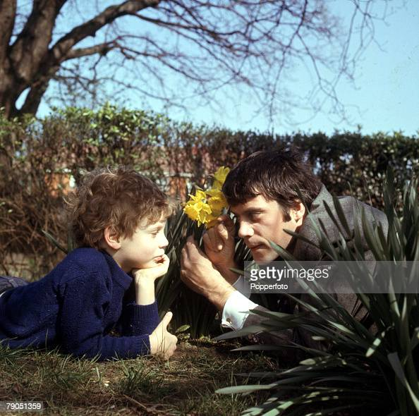 1968  british actor oliver reed pictured with his son mark  pictures