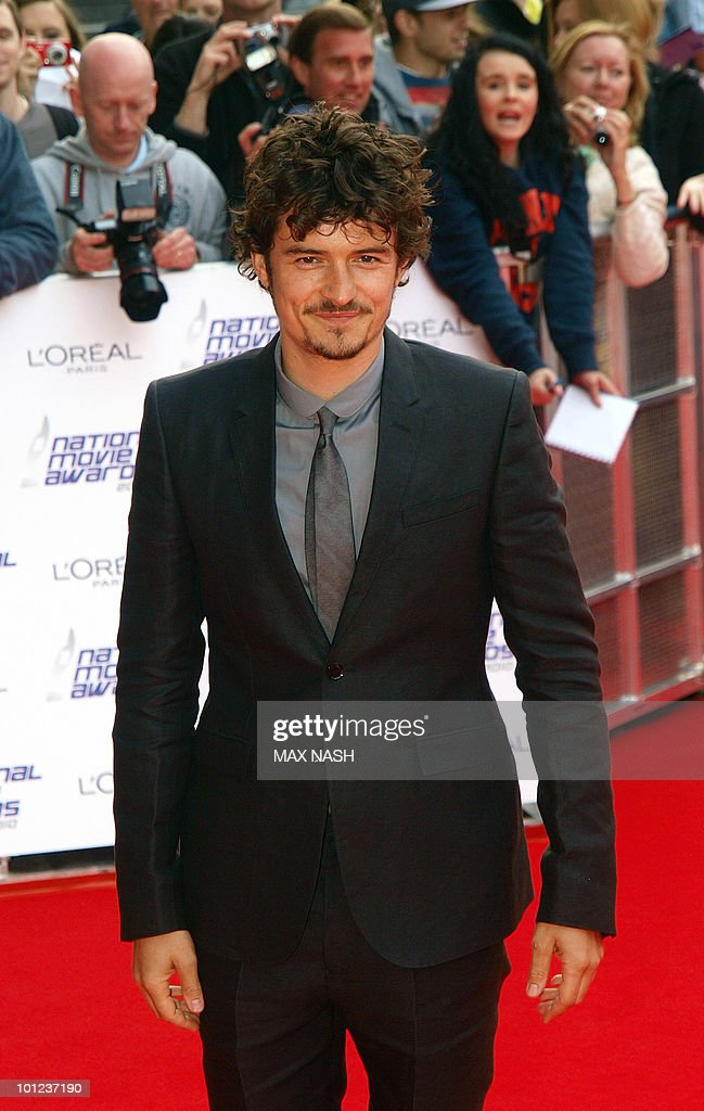 British actor Orlando Bloom arrives at the National Movie Awards in London's Royal Festival Hall on May 26, 2010. AFP Photo/MAX