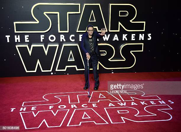British actor Peter Mayhew attends the opening of the European Premiere of 'Star Wars The Force Awakens' in central London on December 16 2015 Ever...