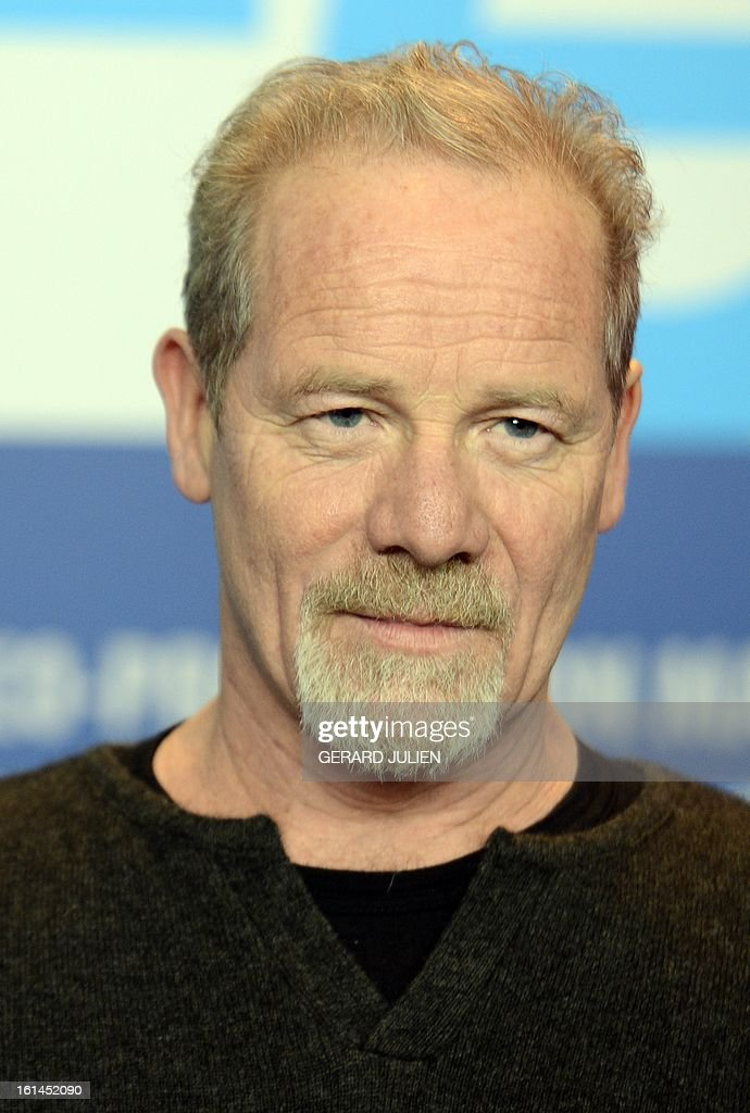 British actor Peter Mullan is pictured during a press conference for the film 'Top of the lake' presented in the Berlinale Special of the 63rd Berlin International Film Festival in Berlin on February 11, 2013. AFP PHOTO / GERARD JULIEN