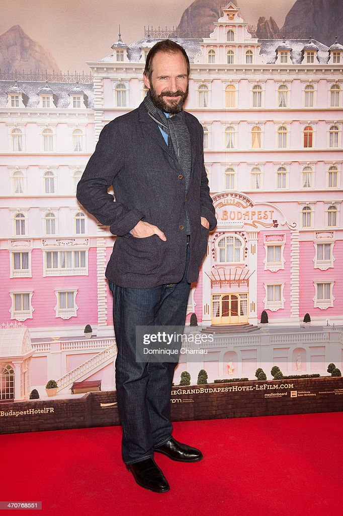 British actor Ralph Fiennes attends the 'The Grand Budapest Hotel' Paris Premiere at Cinema Gaumont Opera on February 20, 2014 in Paris, France.