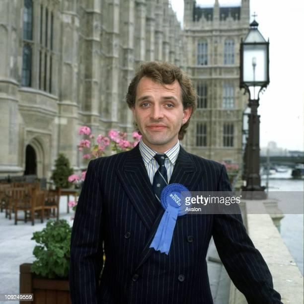 British Actor Rik Mayall As Alan B'Stard MP in the TV series 'The New Statesman'