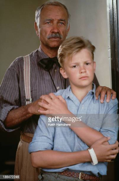 British actor Simon Fenton as the 12yearold PK and Armin MuellerStahl as his mentor Doc in the film 'The Power of One' 1992