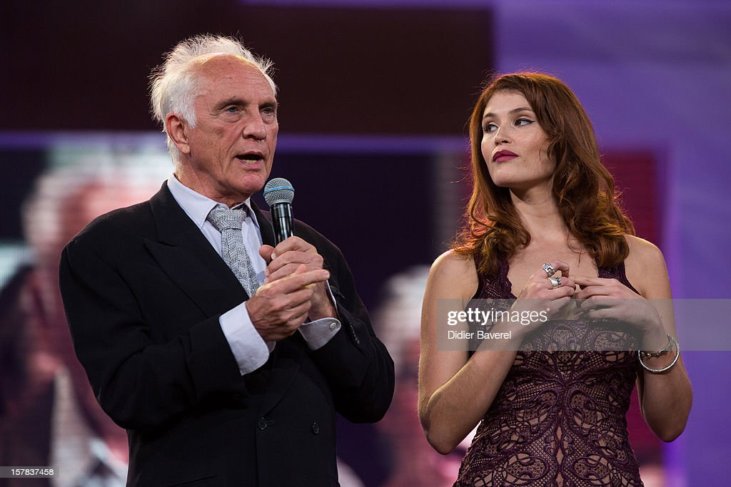 British actor <a gi-track='captionPersonalityLinkClicked' href=/galleries/search?phrase=Terence+Stamp&family=editorial&specificpeople=217602 ng-click='$event.stopPropagation()'>Terence Stamp</a> and british actress <a gi-track='captionPersonalityLinkClicked' href=/galleries/search?phrase=Gemma+Arterton&family=editorial&specificpeople=4296305 ng-click='$event.stopPropagation()'>Gemma Arterton</a> attend the tribute to Jonathan Demme at 12th International Marrakech Film Festival on December 6, 2012 in Marrakech, Morocco.