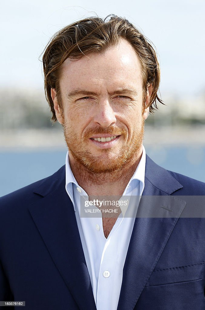 British actor Toby Stephens poses during a photocall for the TV series 'Black Sails' as part of the Mipcom international audiovisual trade show at the Palais des Festivals, in Cannes, southeastern France, on October 7, 2013.