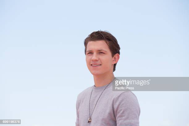 British actor Tom Holland during Photocall of the movie 'SpiderMan Homecoming'