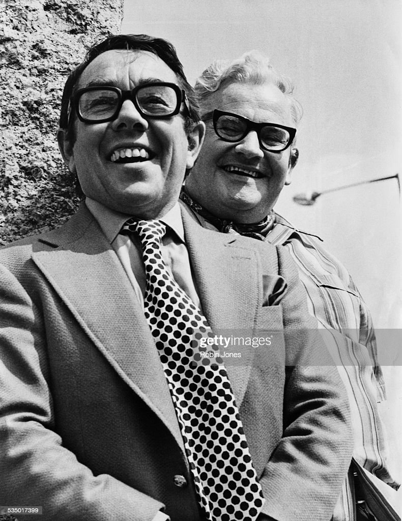 British actors and comedians Ronnie Corbett and Ronnie Barker of comedy double act The Two Ronnies May 1978