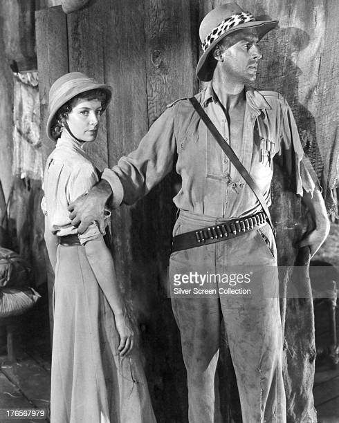 British actors Deborah Kerr as Elizabeth Curtis and Stewart Granger as Allan Quatermain in a publicity still for 'King Solomon's Mines' directed by...