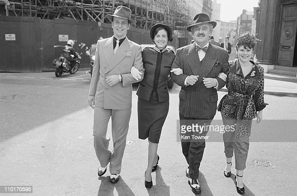 British actors Ian Charleson Bernard Cribbins and Imelda Staunton 3rd April 1984 They are starring in the musical 'Guys and Dolls' at the National...