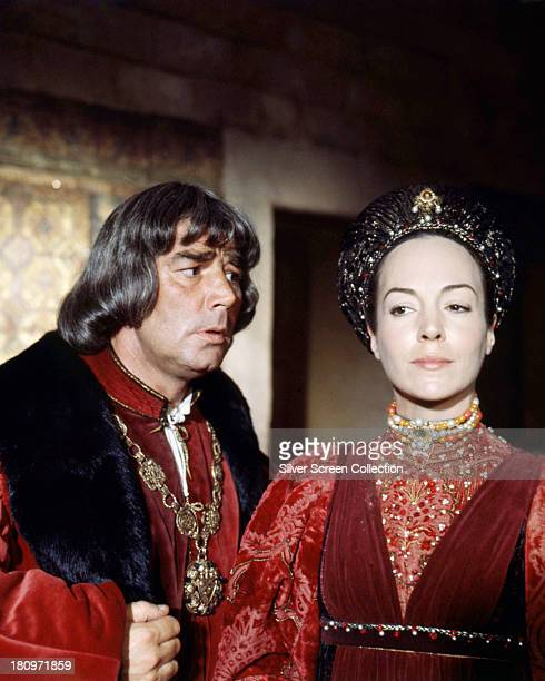 British actors Paul Hardwick as Lord Capulet and Natasha Parry as Lady Capulet in 'Romeo And Juliet' directed by Franco Zeffirelli 1968