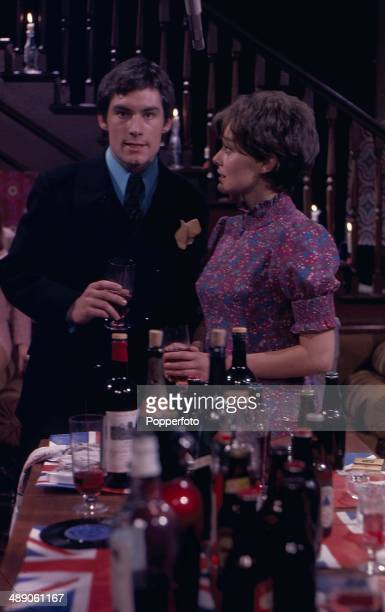 1968 British actors Timothy Dalton and SarahJane Gwillim appear in the television play 'Sat'day While Sunday' in 1968